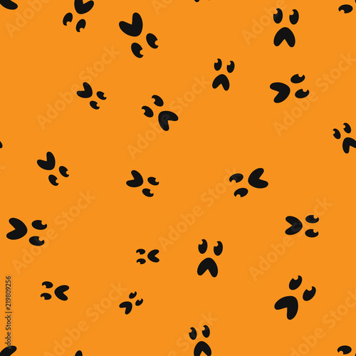 Fotografía  Frightened face Halloween seamless pattern color