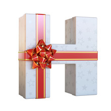 Gift Box With Red Ribbon Bow 3...