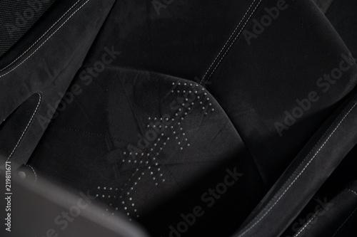 Photo Alcantara car seat of sports car
