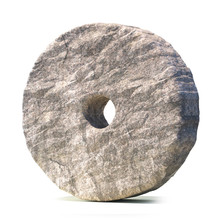 Stone Wheel Isolated On White ...