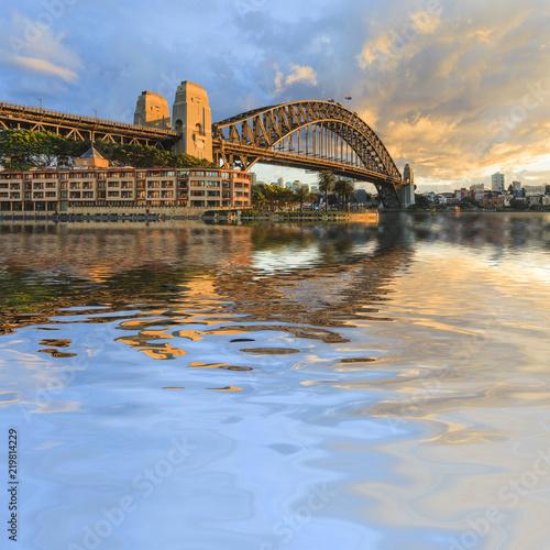 Poster Sydney Sydney Harbour Bridge Australia Spectacular Early Morning Light