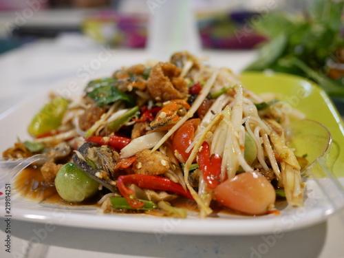 Cadres-photo bureau Nature Somtum, Thai food with spicy taste.