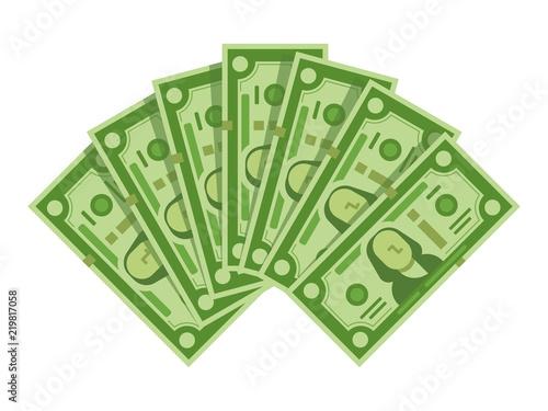 Fotografía  Money banknotes fan