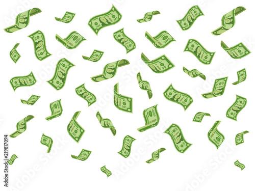 Fotografía Falling banknotes