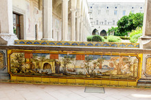 Particular Decoration Of The Cloister - Monastery Of Santa Chiara - Naples