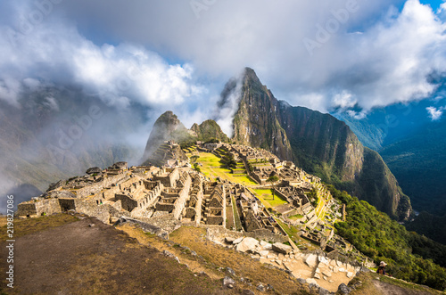 Tuinposter Zuid-Amerika land Machu Picchu, UNESCO World Heritage Site. One of the New Seven Wonders of the World.