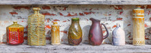 Colorful Ceramic Porcelain Pottery In Different Shape And Form