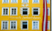 The Birthplace Of The Famous Composer Wolfgang Amadeus Mozart In Salzburg, Austria