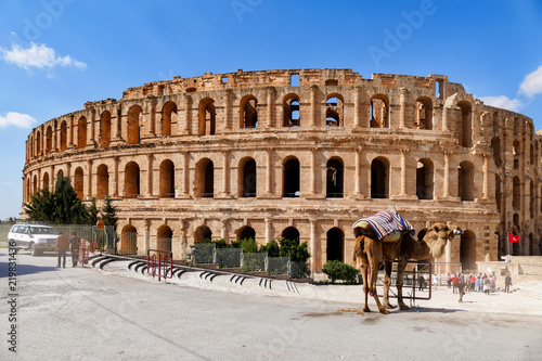 Amphitheatre of El Jem in Tunisia