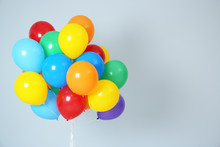Bunch Of Bright Balloons And S...