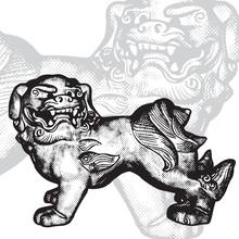 Oriental Mythical Symbol - Dog...