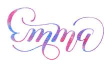 Hand Lettering. Girl's Name - ...