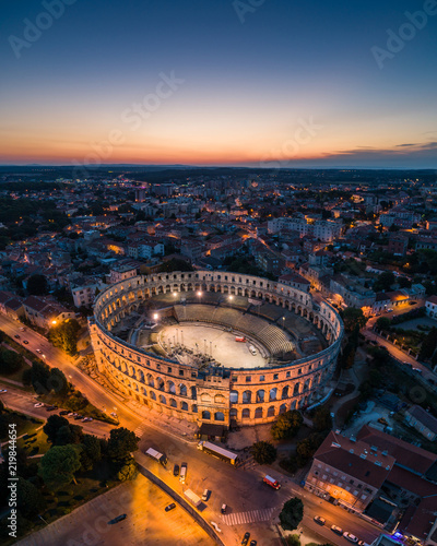 Fotografía  Aerial photo of Arena in Pula