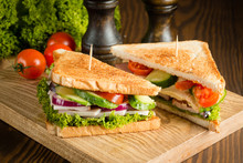 Close-up Of Two Sandwiches Wit...