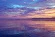 Misty Purple Seascape At Sunset In The White Nights Season