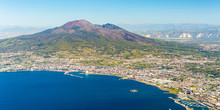 Napoli And Mount Vesuvius In T...