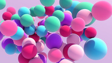 Colorful Floating Balls Background