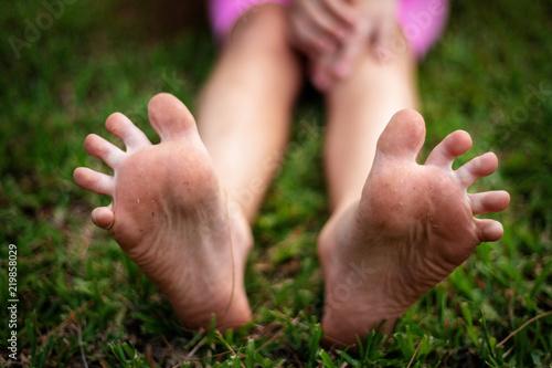 Fotomural Spreaded toes