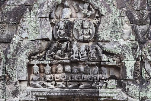 Free art print of apsara apsara khmer stone carving in angkor