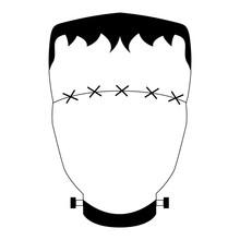 Abstract Halloween Monster Mask