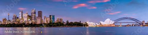 Foto auf AluDibond Brücken Panorama of Sydney and the Opera House, Australia