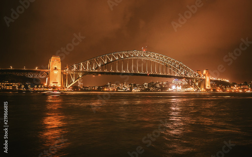 Bridge in Sydney at night, Australia