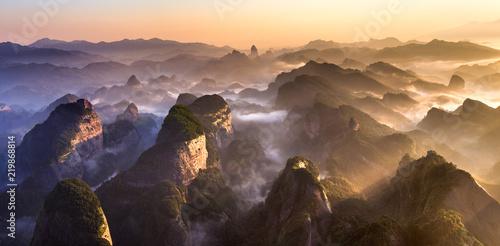 Fotografia  Bajiaozhai National Forest Park in Ziyuan County, Guangxi Province China