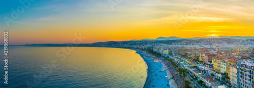 Acrylic Prints Nice Sunset view of Nice, France
