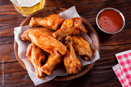 Tuinposter Buffet, Bar Spicy Buffalo Chicken Wings