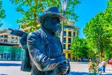 Statue Of Paul Cezanne In Aix-en-Provence, France