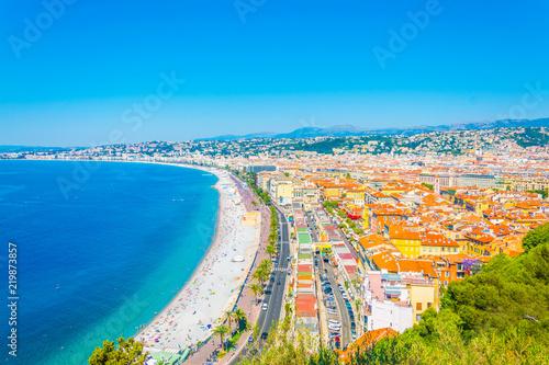Fotobehang Nice Aerial view of Nice, France
