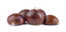 Fresh Chestnuts With Peeled Ro...