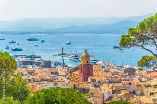Obraz na płótnie Aerial view of Saint Tropez, France