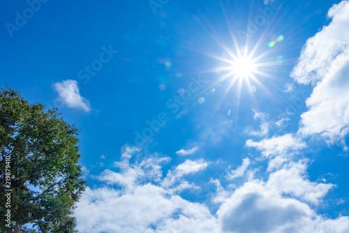 真夏の青空