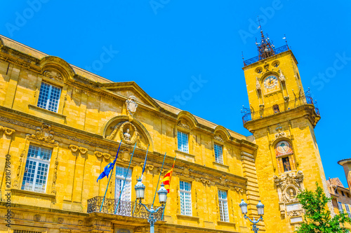 Town hall at Aix-en-Provence, France Wallpaper Mural