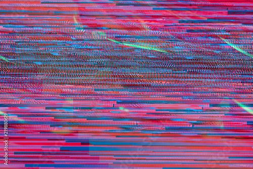 Neon Glitch texture processing computer art