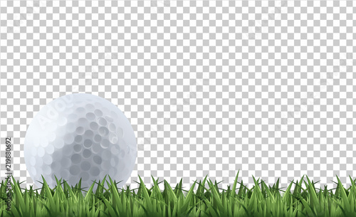 Fotografiet Golf ball on grass
