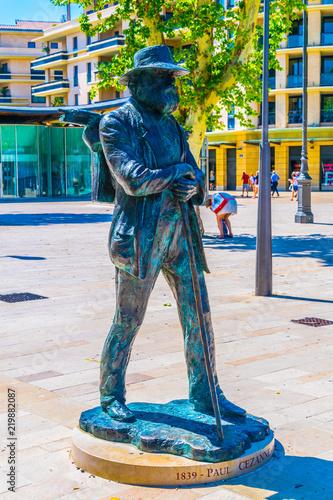 Fotografía  Statue of Paul Cezanne in Aix-en-Provence, France