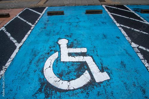 Fotografie, Obraz  車いす専用駐車場