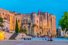 Sunset View Of Palais De Papes...