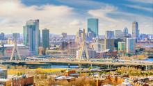 The Skyline Of Boston In Massa...