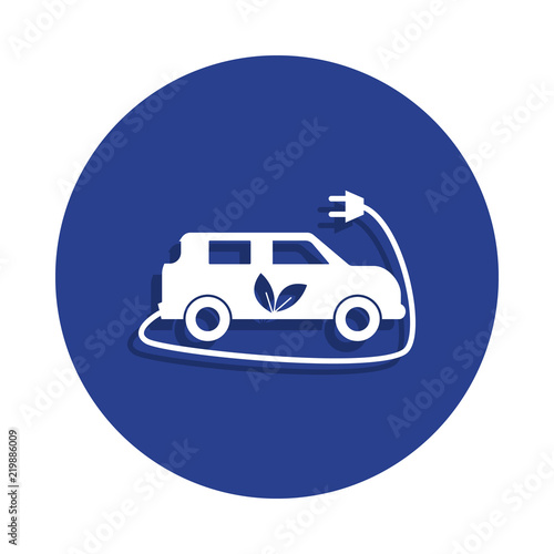 Electric Car Icon In Badge Style One Of Cars Repear Collection Icon
