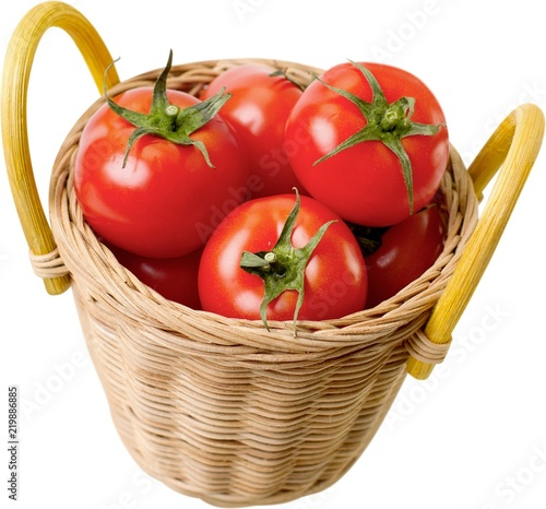 Fotografija  Basket full of tomatoes