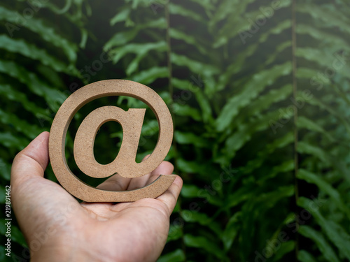 Email address icon Wallpaper Mural