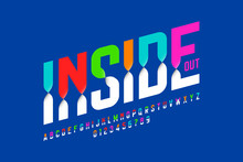 Colorful Inside Out Font, Alph...