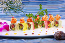 Sushi Roll Combo With Salmon T...