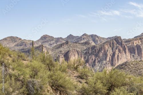Fotografie, Obraz  Mountain scene near Saguaro Lake, Arizona