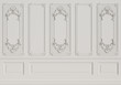 canvas print picture - Classic interior wall with mouldings