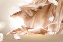 Golden Smooth Satin Background