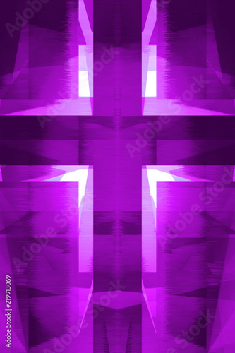 Purple religious cross Fototapete